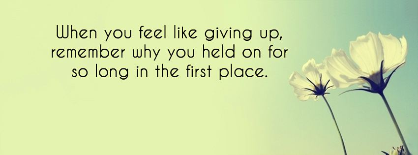 10 Inspirational Quotes For When You Feel Like Giving Up: When You Feel Like Giving Up, Remember Why You
