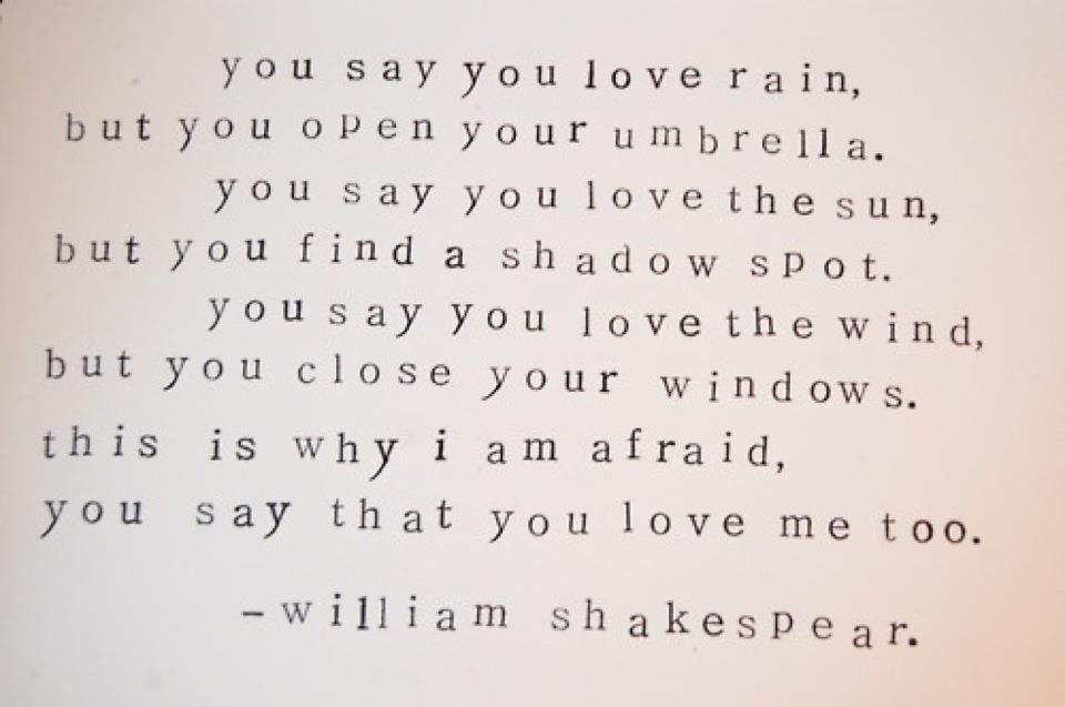 Yoddler - You say you love rain, but you open your umbrella. You say you love...