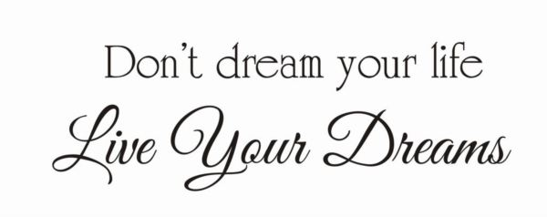 Donu0027t Dream Your Life Live Your Dreams
