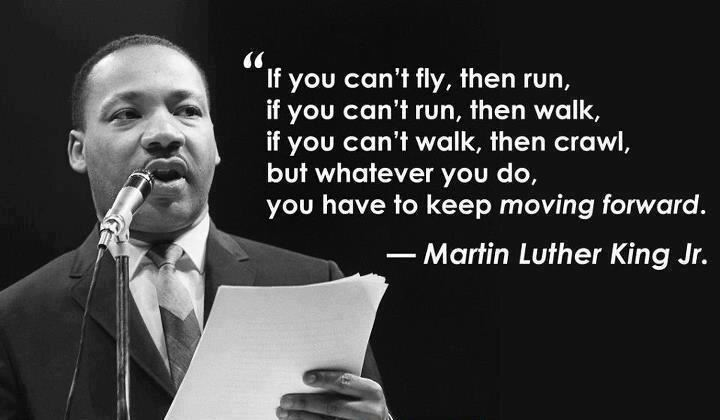 Image result for mlk quotes if you can't fly