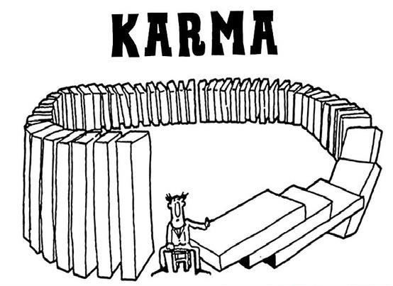 Yoddler - Karma Funny Karma Quote